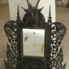 Burmese mirror BU368. Teak wood. Burma.