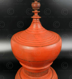 Burmese offering box BU497D. Hsun-owk lacquerware, Burma