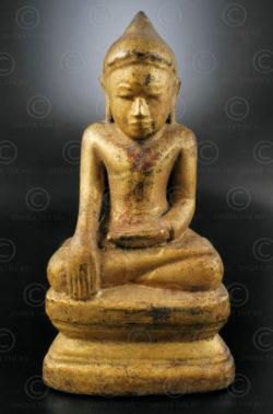 Burmese seated Buddha BU523B. Shan style, Upper Burma.
