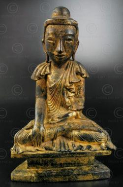Burmese seated Buddha BU523C. Mandalay style, Upper Burma.