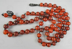 Burmite red amber beads BD223. India amber originally from northern Burma