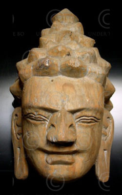 Buddha mask C23-00. Chiang Mai museum