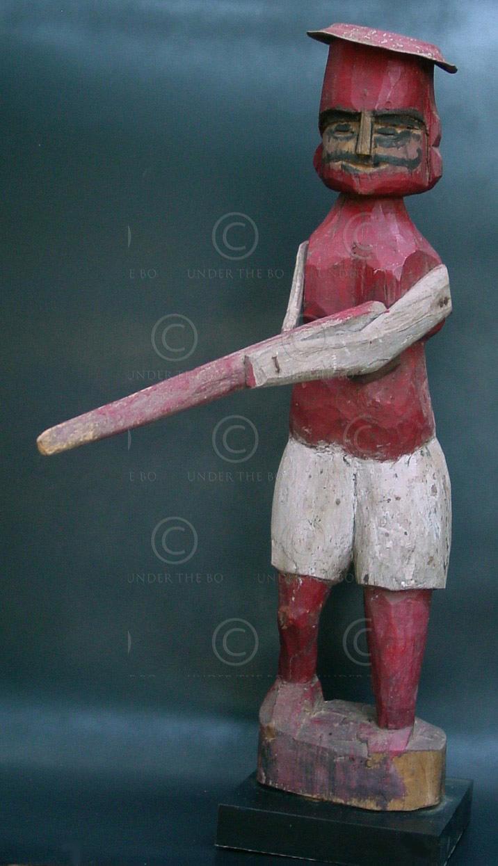 Tribal hunter figure C7b-99. Palkad, North Kerala.