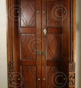 Chettinad door 08MT9. Teak wood. Chettinad, Southern India.