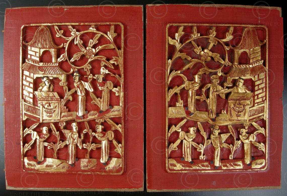 Chinese panels CP17 Pair decorative panels, China.