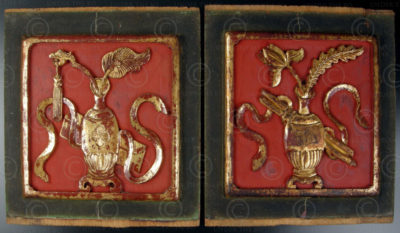 Chinese panels CP18 Pair decorative panels, China, 19th cent.
