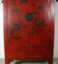 Chinese cupboard BJ41. Red lacquered elmwood. Shanxi, China.
