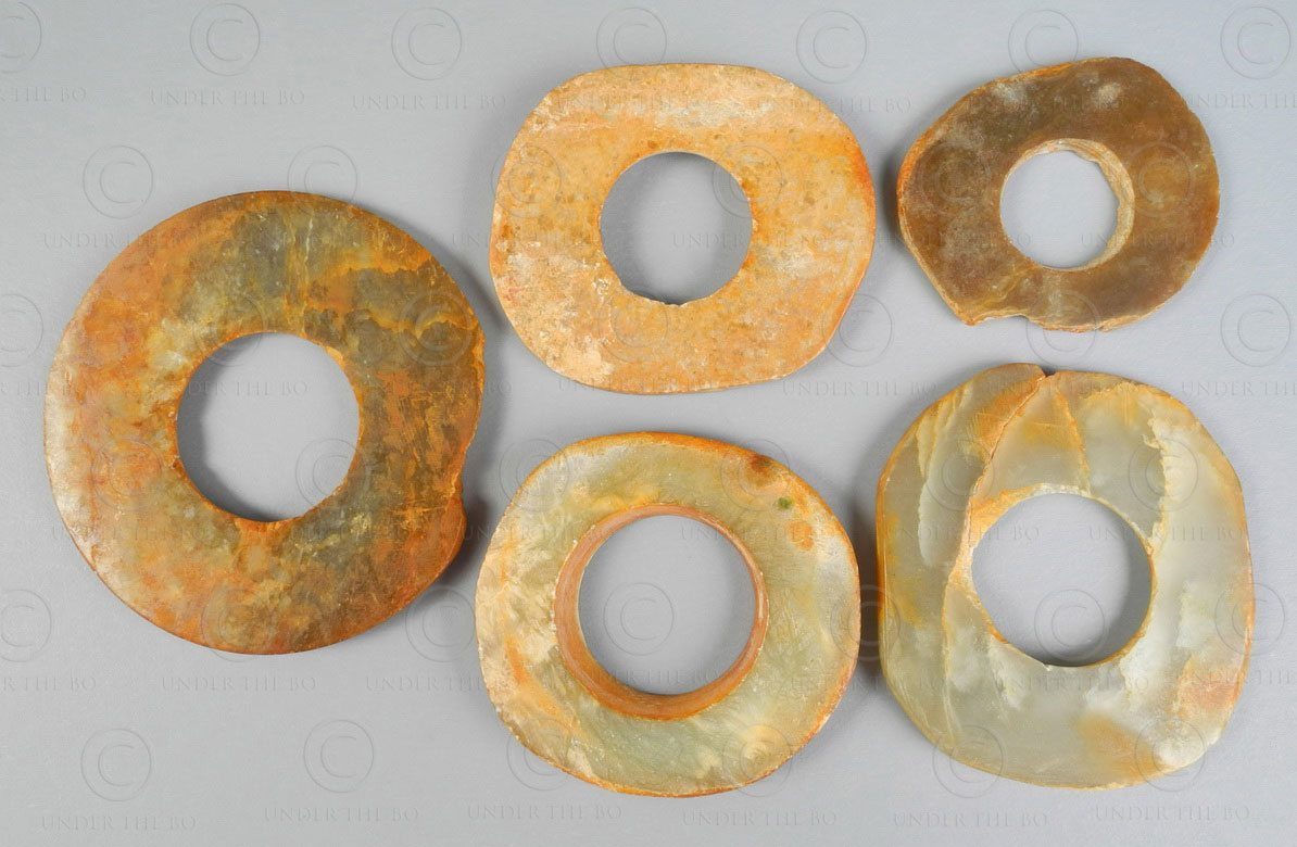 Chinese jade coins C97. Neolithic China.