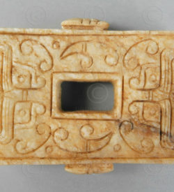 Chinese jade currency C98. Western Zhou, ancient China.