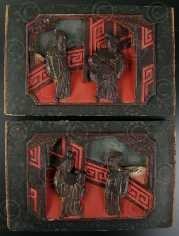 Chinese panels CP10 Pair decorative panels, China, 19th cent.