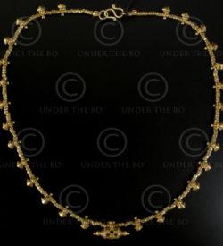 Collier avec pendentifs minitures or grains de riz, Orissa No.531