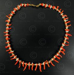 Collier corail rouge de Méditerranée, Perles et Or No.550