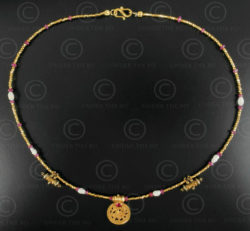 Collier or indien 629. Design François Villaret.
