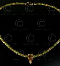 Collier avec tourmaline à facettes et or à granulations No.526
