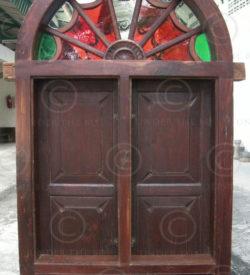 Doors and windows set H2D-00. Set of nine elements. South India