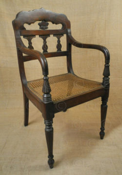 Colonial armchairs FVC3A. Colonial style. Teakwood, rattan.
