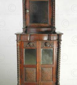 Colonial cabinet BU6. Victorian english colonial. Burma. Teakwood.