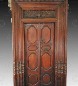 Colonial door 09KK1. Chettinad region, Southern India.