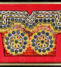 Corsage Rajasthan encadré IN31A. Rajasthan, Inde du nord ouest.