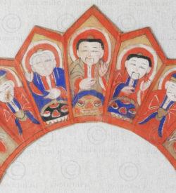 Couronne prêtre Yao YA139A. Minorité Yao Lantien, sud de la Chine ou Laos.