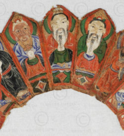 Couronne prêtre Yao YA139B. Minorité Yao Lantien, sud de la Chine ou Laos.