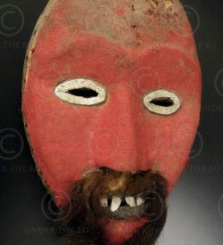 Dan mask DN2. tribal culture, Liberia, West Africa.