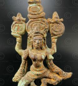 Dancing Khmer apsara 13KM7. Angkor Wat period, Khmer empire (Cambodia).