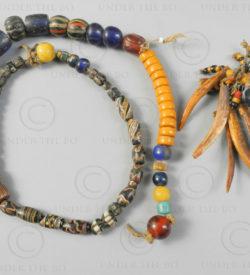 Dayak Borneo beads BD257. Sourced in a M'baloh river Dayak village, West Kaliman