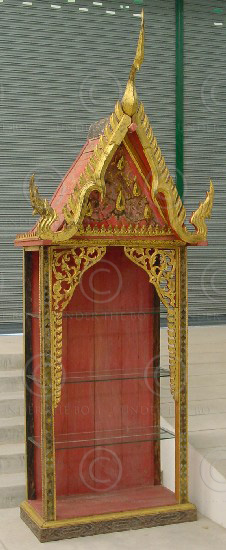 Display shelves T805. Thailand. Under the Bo workshop.