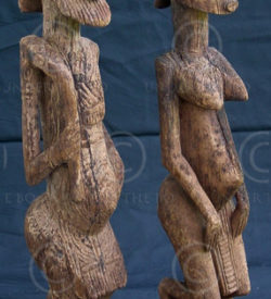 African statue Figures of a couple, Dogon, Mali, 19th-early 20th cent.