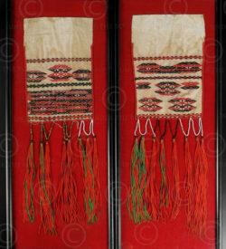 Echarpe Kachin BU39. Minorité Jingpao, état Kachin, Birmanie nord - Yunnan, Chin