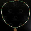 Necklace with Swat emerald and gold 579