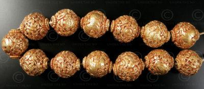 Engraved Buddhist beads BD121D. Handmade in Nepal.