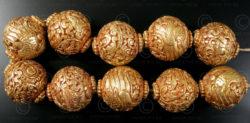 Engraved Buddhist beads BD121E. Handmade in Nepal.