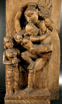 Erotic sculpture panel 08LN8. Tamil Nadu, southern India.