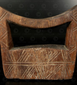 Ethiopian headrest AF203B, Oromo culture
