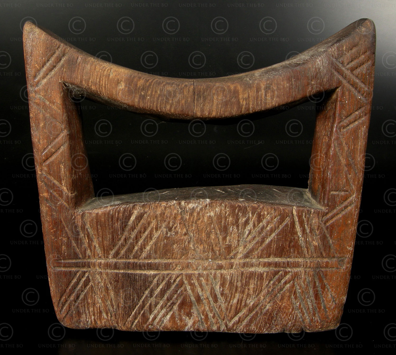 Ethiopian headrest AF203B, Oromo culture