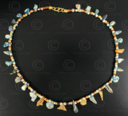 Excavated Bactrian glass beads necklace 628. Designed by François Villaret.