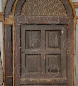 Windows F28-99 Cedarwood. 19th century. North Pakistan