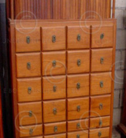 Chest of drawers FV9. Cupboard with sliding teak curtain.