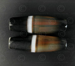 Faceted banded agate beads BD277. Sourced in Afghanistan.
