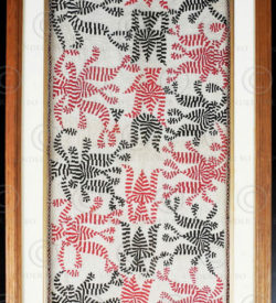 Framed Kantha IN33. Bihar or West Bengal. Mid-20th century.