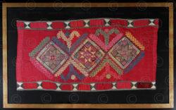 Framed Turkmen embroidery KO74. Turkmen culture, Afghanistan.