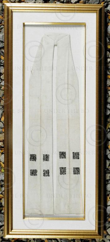 Framed Yao belt YA159A. Iu Mien Yao minority, Thailand or Laos.