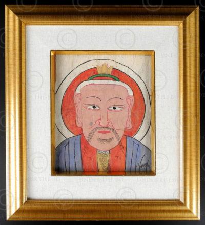 Yao paper mask YA143B. Lantien Yao minority, Southern China or Laos.