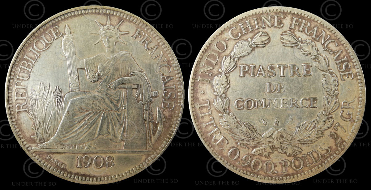 Indochina silver coin C88A. French Indochina.