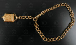 French gold chain bracelet B213. French work.