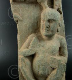 Gandhara Frieze GH2034, fragment (Swat). Gandhara kingdom