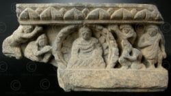 Gandhara frieze 10GH28A. Ancient kingdom of Gandhara (Pakistan). Found in Swat v