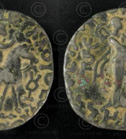 Gandhara tetradrachm coin C314. Indo-Parthian (Saka) culture, Gandhara kingdom.